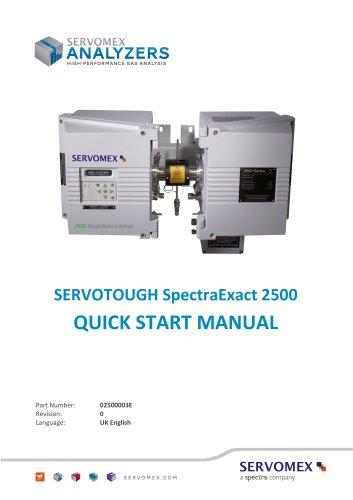 SERVOTOUGH SpectraExact 2500 Series Quick Start Manual 02500003E_0 en