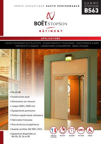 Porte acoustique Haute Performance BS63