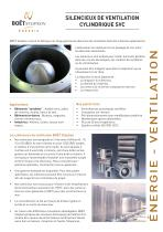 Silencieux de ventilation circulaire SVC