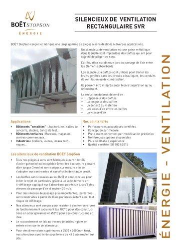Silencieux de ventilation rectangulaire SVR