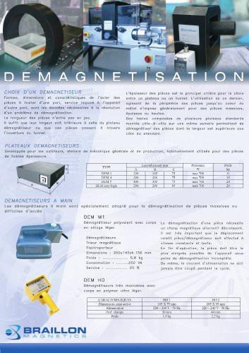 Démagnétiseurs plateaux, tunnels, manuels et automatiques - Braillon Magnetics -