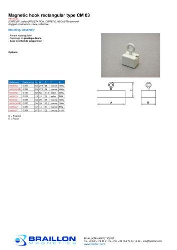 Magnetic hook rectangular type CM 03
