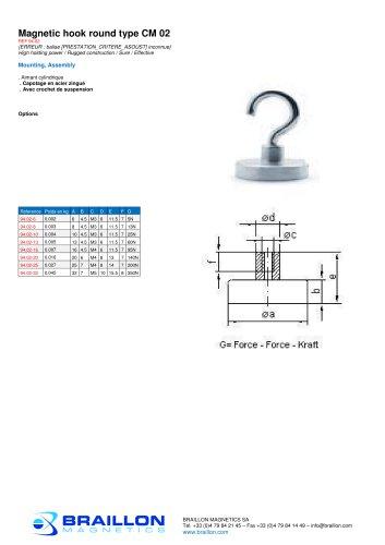 Magnetic hook round type CM 02