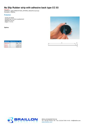 No Slip Rubber strip with adhesive back type CC 03