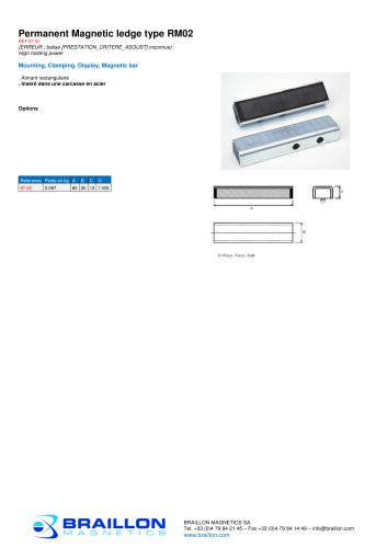Permanent Magnetic ledge type RM02