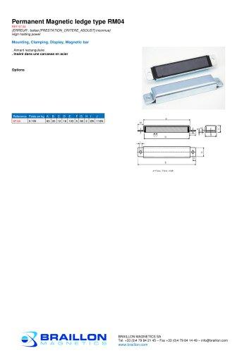 Permanent Magnetic ledge type RM04