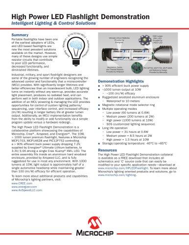High Power LED Flashlight Demonstration Brochure