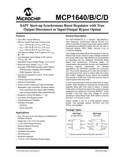 MCP1640/B/C/D