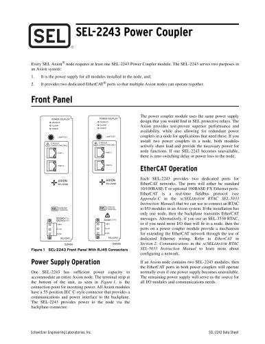 SEL-2243 Power Coupler