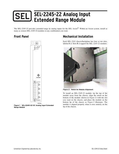 SEL-2245-22 Analog Input Extended Range Module