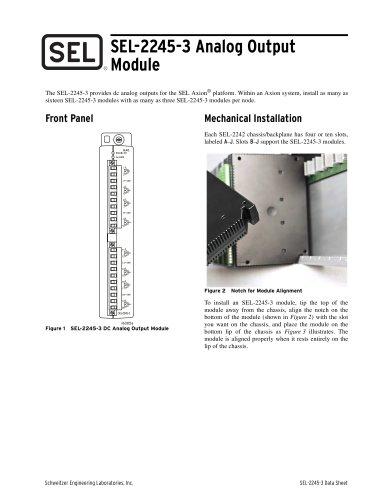 SEL-2245-3 Analog Output Module
