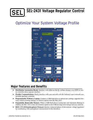 SEL-2431 Voltage Regulator Control