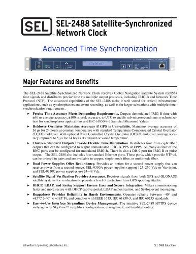 SEL-2488 Satellite-Synchronized Network Clock
