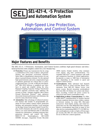SEL-421-4, -5 Protection and Automation System
