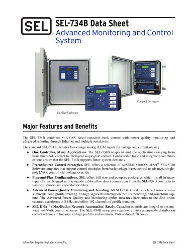 SEL-734B Advanced Monitoring and Control System