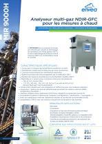 Mesure de gaz en cheminée : analyseur multi-gaz chauffé IR-GFC MIR9000H