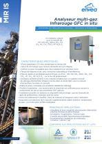 MIR IS Analyseur multi-gaz Infrarouge GFC en cheminée