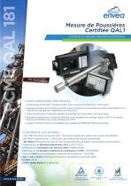 QAL181 analyseur particules en cheminée certifié QAL1 - laser