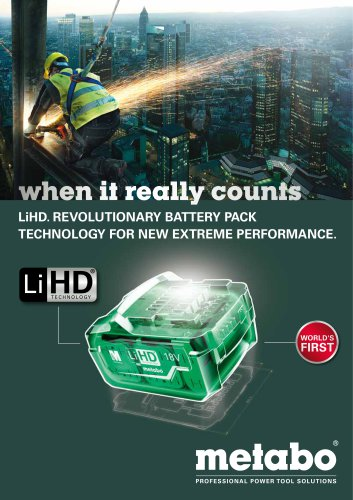 LiHD. REVOLUTIONARY BATTERY PACK TECHNOLOGY FOR NEW EXTREME PERFORMANCE.