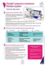 Pleiade®polymeric membrane filtration system