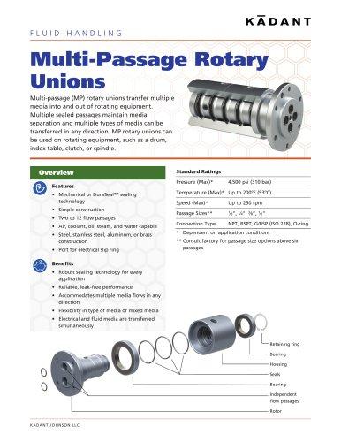 Multi-Passage Rotary Unions