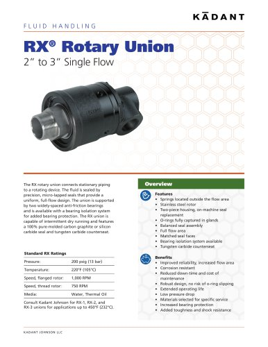 RX® Rotary Union