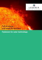 Fasteners for solar technology