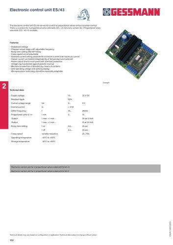 Electronic control unit ES/43