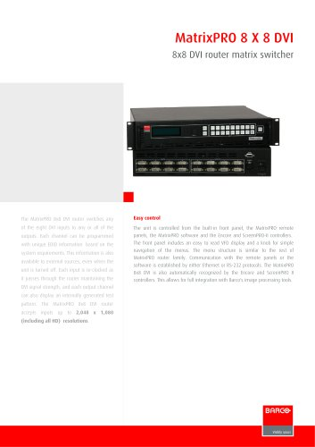 MatrixPRO 8 X 8 DVI