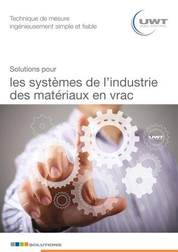 Solutions pour les systèmes de l'industrie