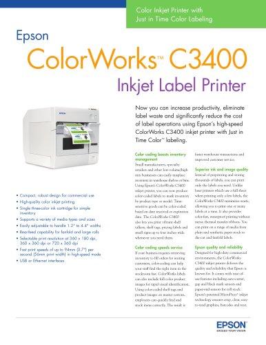 ColorWorks™ C3400