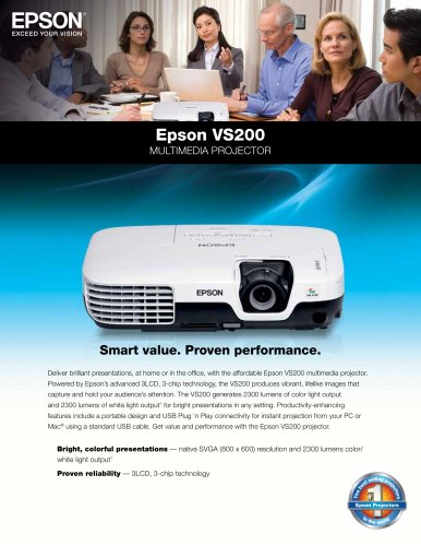 Epson VS200 Multimedia Projector
