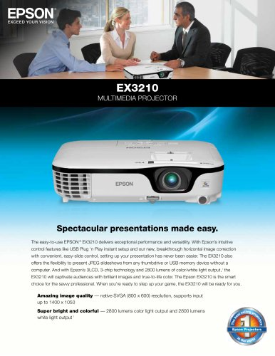 EX3210 Multimedia Projector
