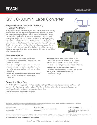 GM DC-330mini Label Converter