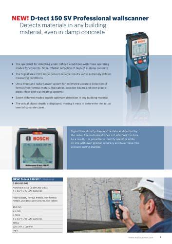 D-tect 150 SV Professional wallscanner