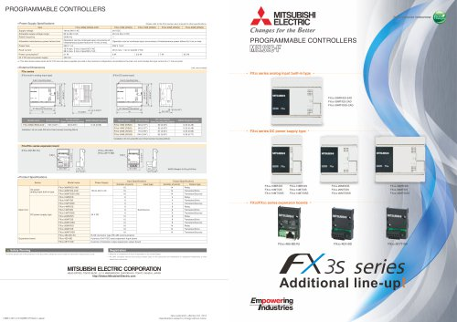 FX3S Additional Products Brochure