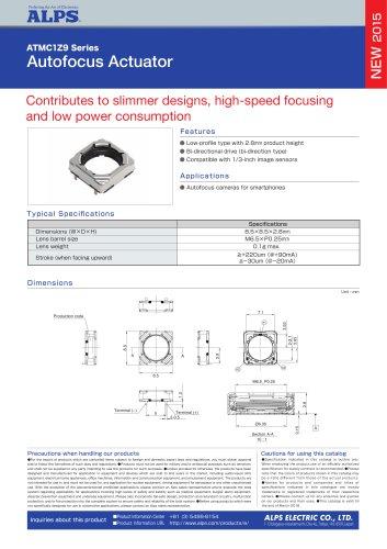 Autofocus Actuator ATMC1Z9 Series