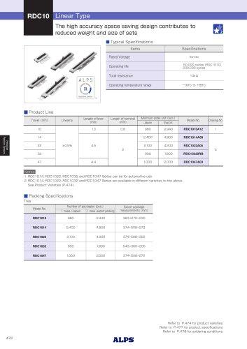 Linear Type RDC10 Series