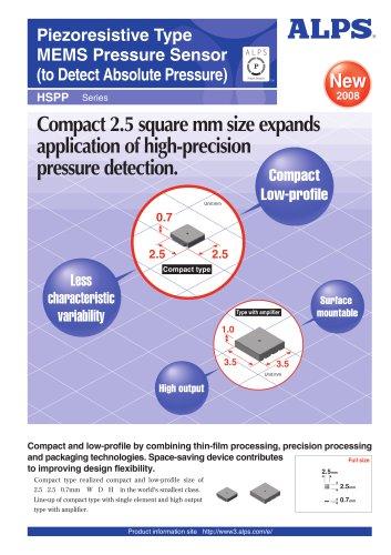 Piezoresistive Type MEMS Pressure Sensor