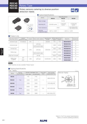 Rotary Type RDC40/RDC50/RDC90 Series
