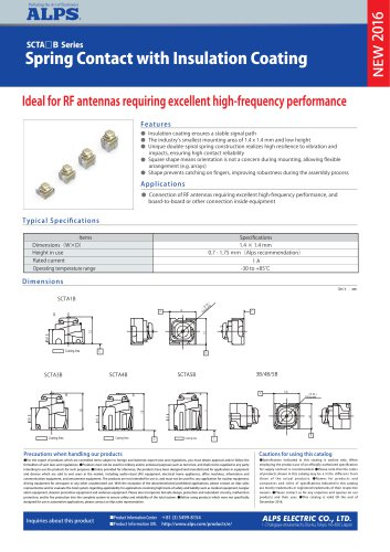Spring Contact with Insulation Coating SCTA B series