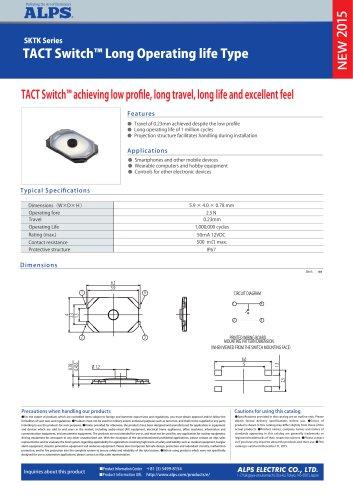 TACT Switch™ Long Operating life Type SKTK Series