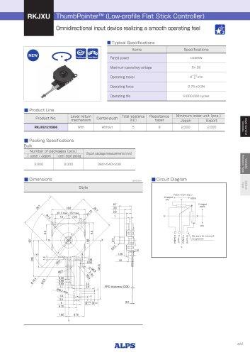 ThumbPointer™ (Low-profile Flat Stick Controller) RKJXU Series