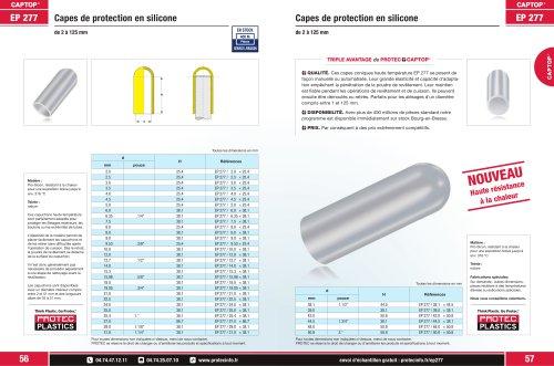 Captop EP 277 Capes de protection en silicone