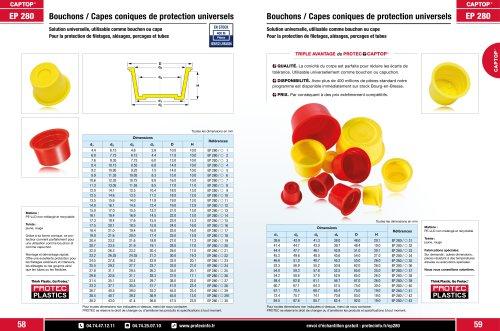 Captop EP 280 Bouchons coniques de protection universels