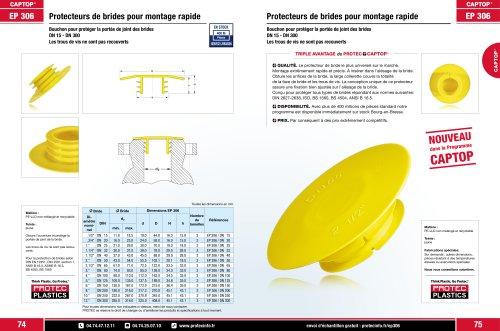 Captop EP 306 Protecteurs de brides pour montage rapide