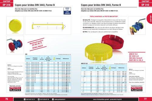Captop EP 310 Capes pour brides DIN 3443, Forme B