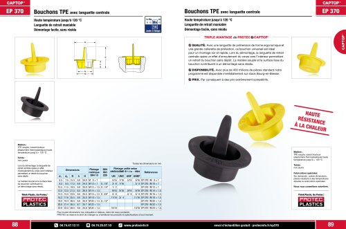 Captop EP 370 Bouchon thermoplastiques avec languette centrale
