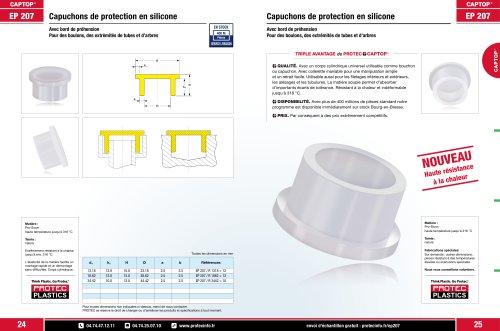 EP 207 Capuchons de protection en silicone