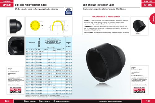 EP 800 Bolt and Nut Protection Caps